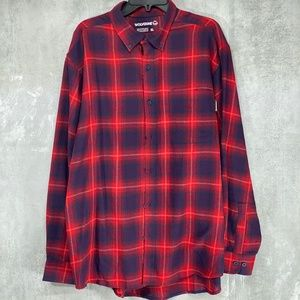 Wolverine Red Blue Night Sky Pike Plaid Flannel Re